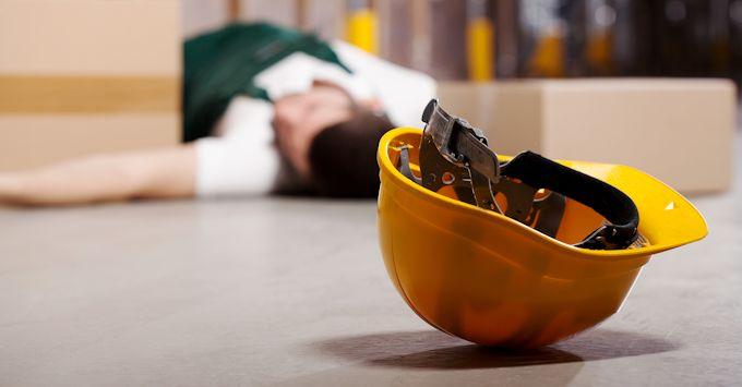 Worker injured on floor