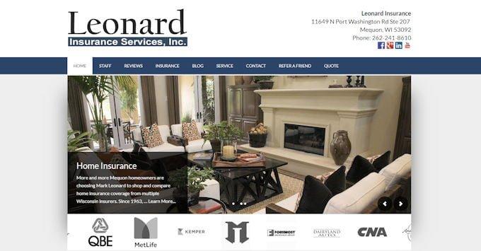 The new Leonard Insurance Website